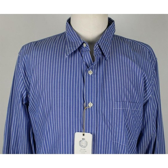 NWT J.Crew Slim Secret Wash L/S Button Down Shirt XL Blue Striped